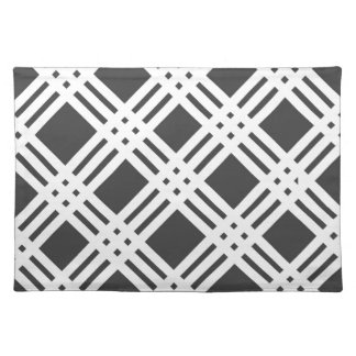Black and White Gingham Cloth Placemat