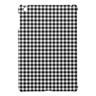 Black and White Gingham Cover For The iPad Mini