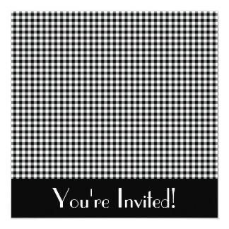Black and White Gingham Invitation