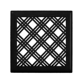 Black and White Gingham Jewelry Box