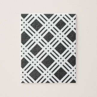 Black and White Gingham Jigsaw Puzzle