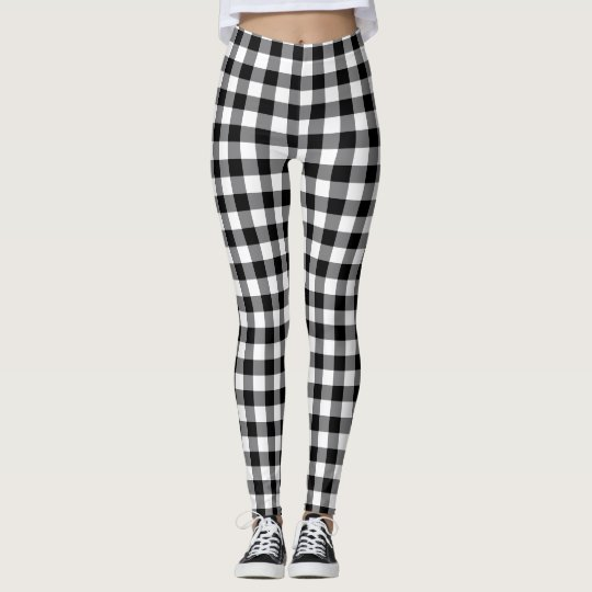 27aedb9f2798d Black And White Gingham Leggings | Zazzle.com