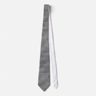 Black and White Gingham Neck Tie