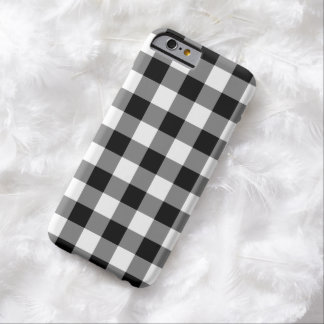 Black and White Gingham Pattern Barely There iPhone 6 Case