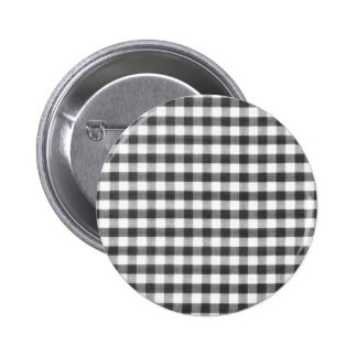 Black and white gingham pattern buttons