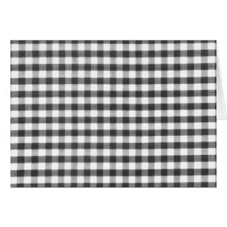 Black and white gingham pattern card