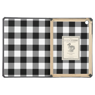 Black and White Gingham Pattern iPad Air Covers