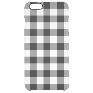Black and White Gingham Pattern Clear iPhone 6 Plus Case