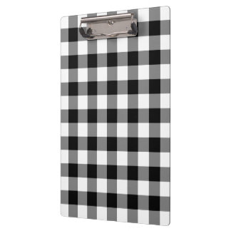 Black and White Gingham Pattern Clipboard