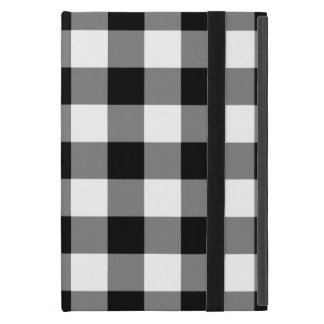 Black and White Gingham Pattern Cover For iPad Mini