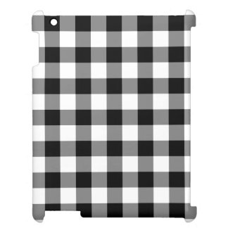Black and White Gingham Pattern Cover For The iPad