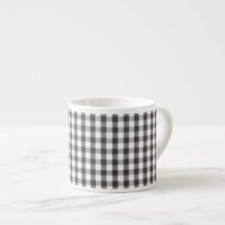 Black and white gingham pattern espresso cup