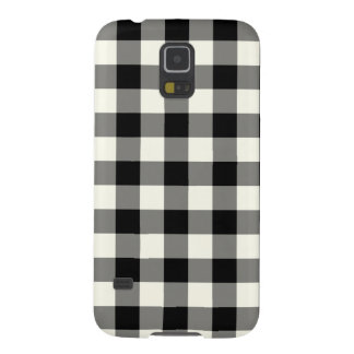 Black and White Gingham Pattern Galaxy S5 Case