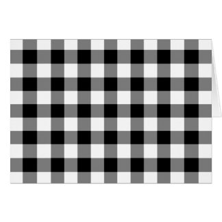 Black and White Gingham Pattern Greeting Card