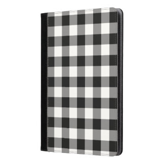 Black and White Gingham Pattern iPad Air Case