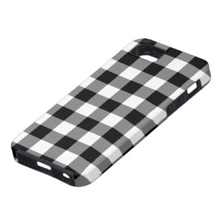 Black and White Gingham Pattern iPhone 5 Covers