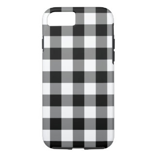 Black and White Gingham Pattern iPhone 7 case