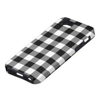 Black and White Gingham Pattern iPhone SE/5/5s Case