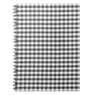 Black and white gingham pattern note books
