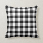 Black and White Gingham Pattern Pillow