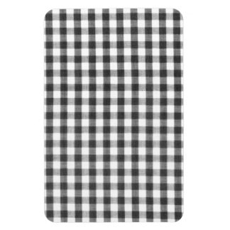 Black and white gingham pattern magnets