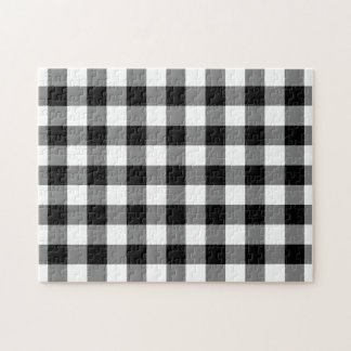 Black and White Gingham Pattern Puzzle