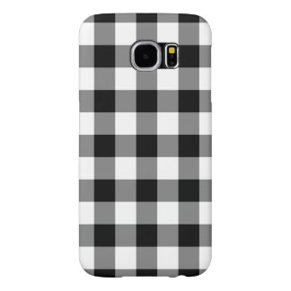 Black and White Gingham Pattern Samsung Galaxy S6 Cases