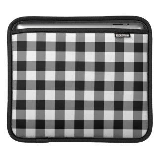 Black and White Gingham Pattern Sleeve For iPads