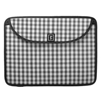 Black and white gingham pattern sleeve for MacBook pro