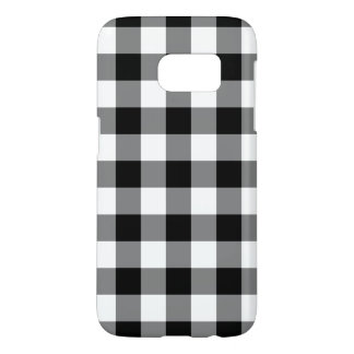Black and White Gingham Pattern Smartphone Case