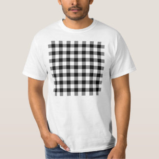 Black and White Gingham Pattern T-Shirt