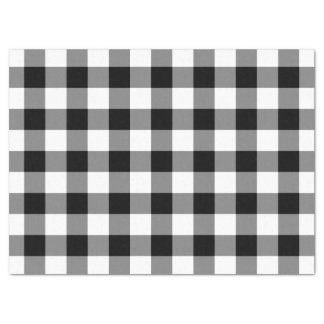 Black and White Gingham Pattern Tissue Paper