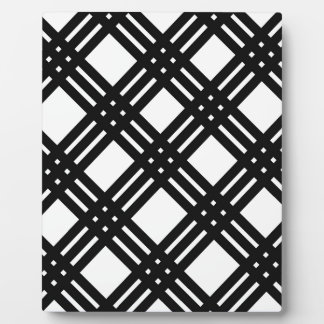 Black and White Gingham Plaque