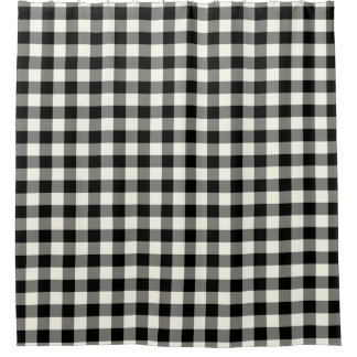 Black and White Gingham Shower Curtains Shower Curtain