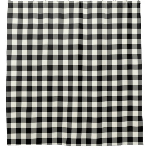 Black And White Gingham Shower Curtains Shower Curtain Zazzle