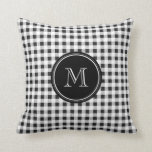 Black and White Gingham, Your Monogram Pillows