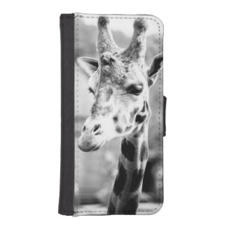 Black and White Giraffe Portrait Photography Phone Wallet Cases