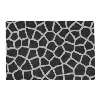 Black and White Giraffe Print Placemat