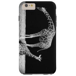 Black and White Giraffes Two Giraffes Tough iPhone 6 Plus Case