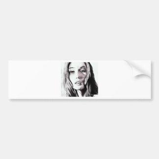 Black and White girl Bumper Stickers