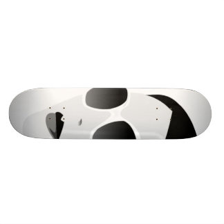 black and white girl with shades skateboard deck