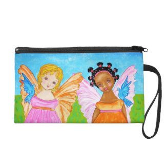 Black and white girlfriends angels faeries bag
