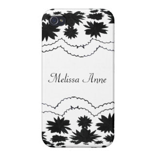Black and White Girly Frills iPhone 4/4S Case