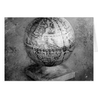 Black and white globe card