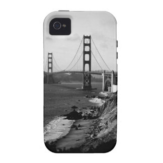 Black and White Golden Gate Bridge Photo Case For The iPhone 4