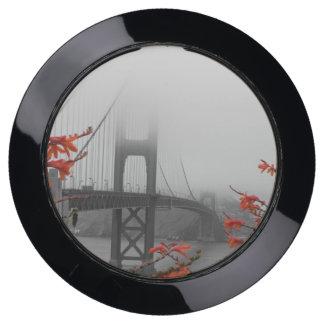 Black and White Golden Gate Bridge USB Charging Station