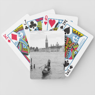 Black and White Gondola in the city of Venice Bicycle Playing Cards