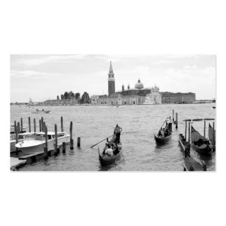 Black and White Gondola in the city of Venice Business Card
