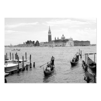 Black and White Gondola in the city of Venice Large Business Card