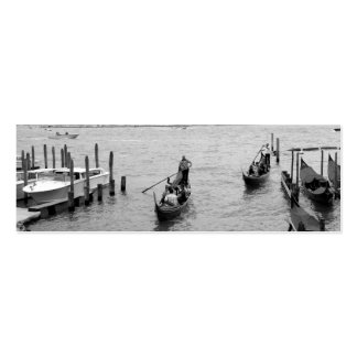 Black and White Gondola in the city of Venice Mini Business Card